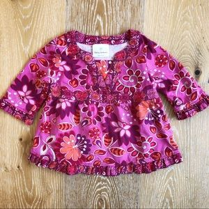 Hanna Andersson 2t (80) pink toddler top EUC